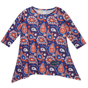 NCAA University of Florida Long Sleeve Tunic Blouse