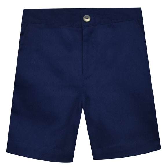 Navy Twill Boys Structured Short