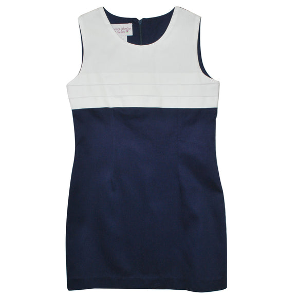 Navy and White Pique Sundress Shift