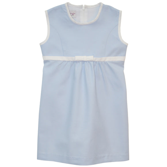 Blue Pique Shift Dress