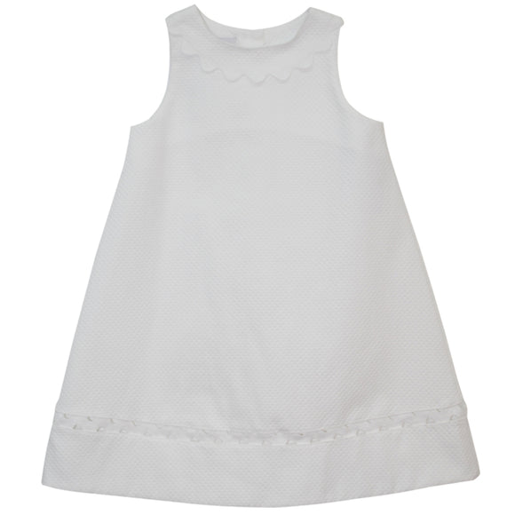 White Pique Shift Dress