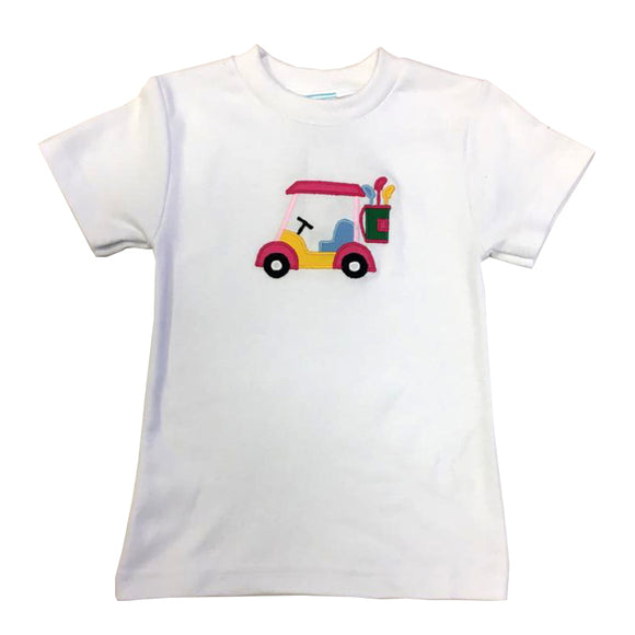 Girl Golf Car Girls Tee Shirt Short Sleeve