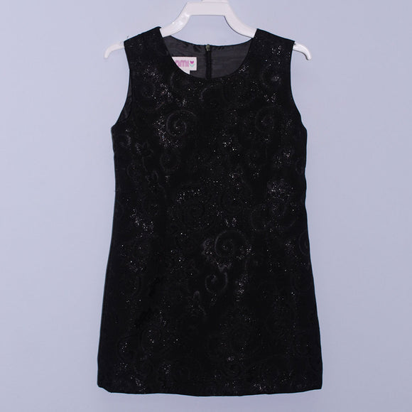 Black Satin Sheat Dress