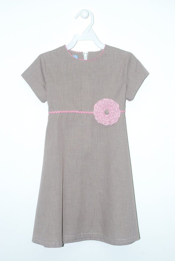 Brown Check Circle Dress