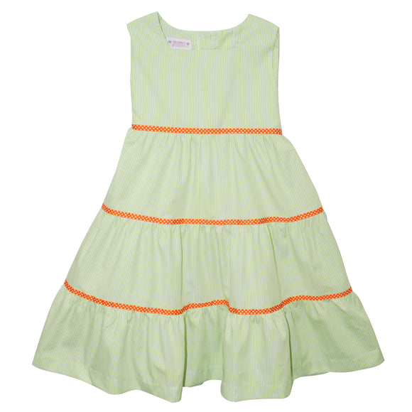 Lime Green Tiered Sundress
