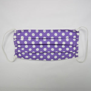 Purple Polka Dots Mask
