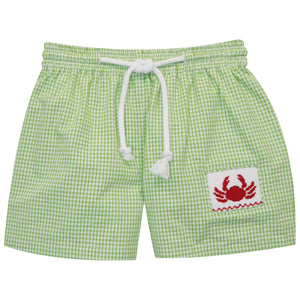 Crab Smocked Swimtrunks