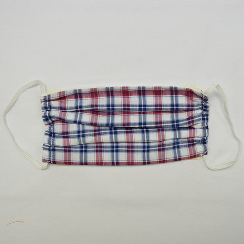 Red and Blue Plaid Face Mask