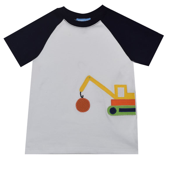 Crane Applique Boys Tee