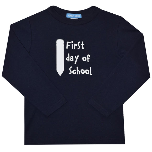 First Day of School Heat Transfer Boys T-Shirt