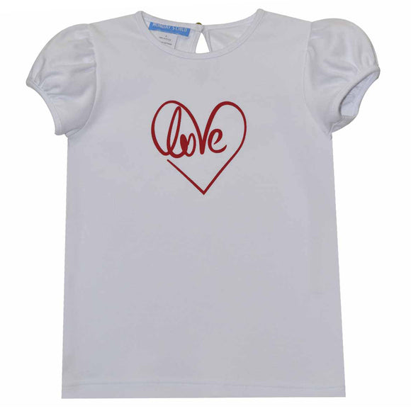 Love Heat Transfer Girls Top