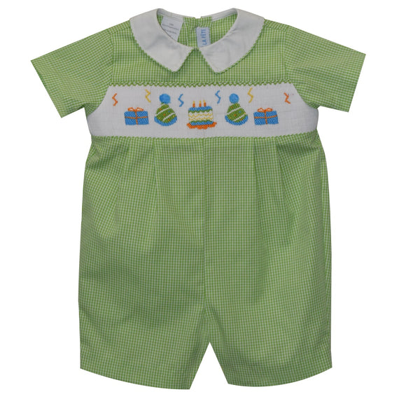 Birthday Party Smocked Romper