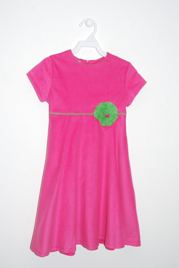 Pink Corduroy Circle Dress