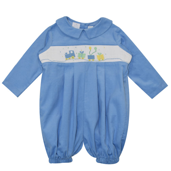 Boys Birthday Smocked Lt Blue Boys Bubble