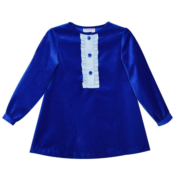 Royal Velvet Shift Dress