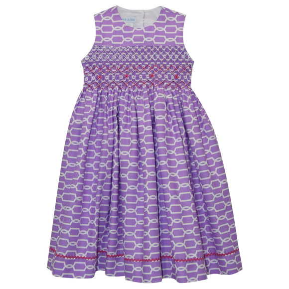 Purple Geometric Dress