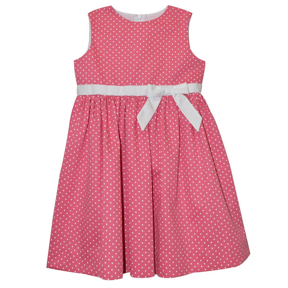 Pink Polkadot Sleeveless Dress
