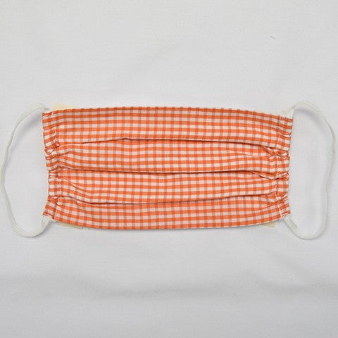 Orange Check Face Mask