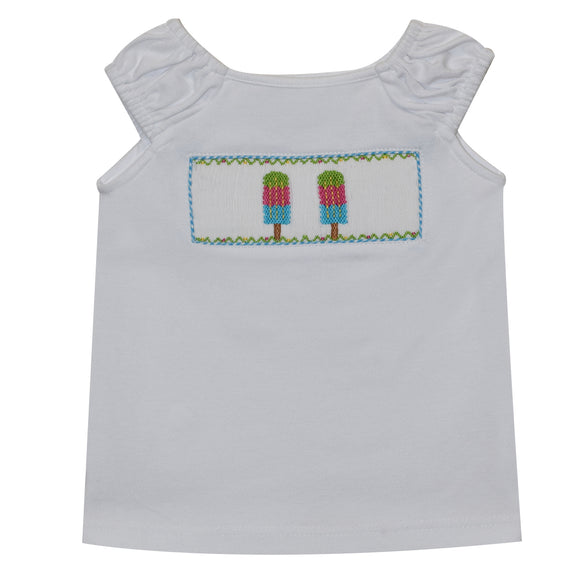 Popsicles Smocked Girls Blouse
