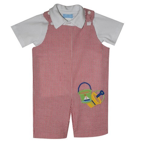 Applique Sand Pails Sunsuit