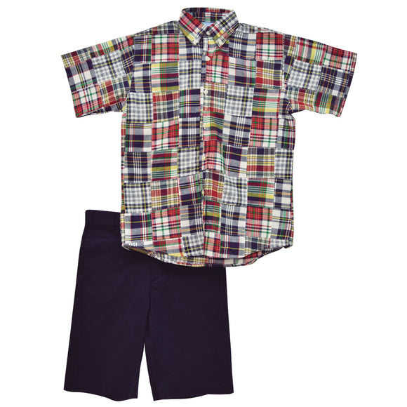 Patchwork Boys Short Set