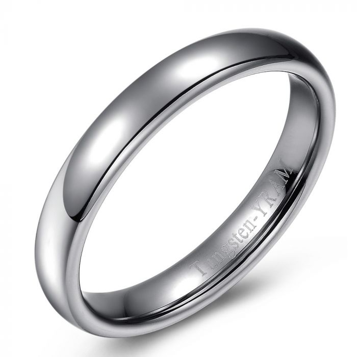 Slim Tungsten Ring - 4mm