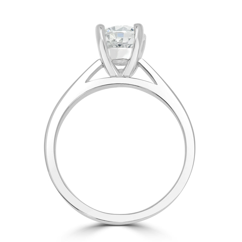 Four Claw Double Gallery Solitaire Engagement Ring