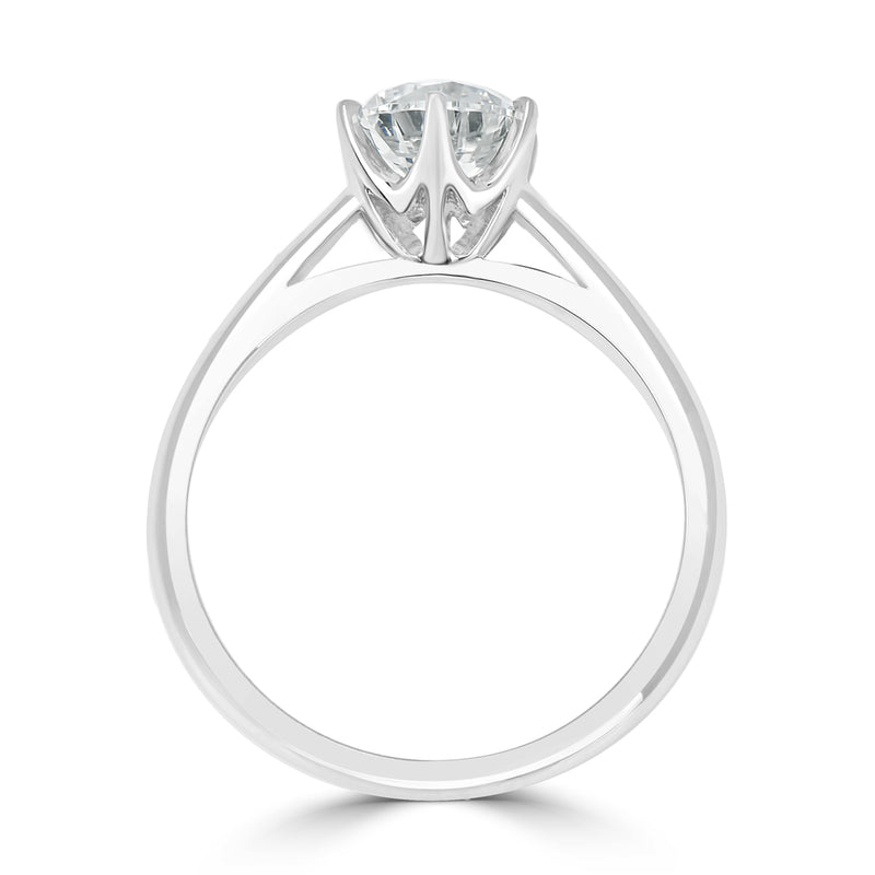 Six Claw Engagement Ring Solitaire