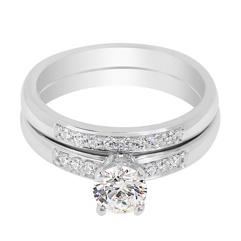 Pavé Set Four Claw Engagement Ring