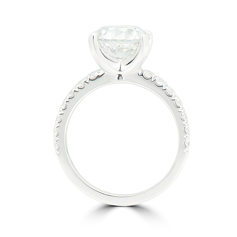 "Tiger Claw ""U"" Set Semi Mount Engagement Ring"
