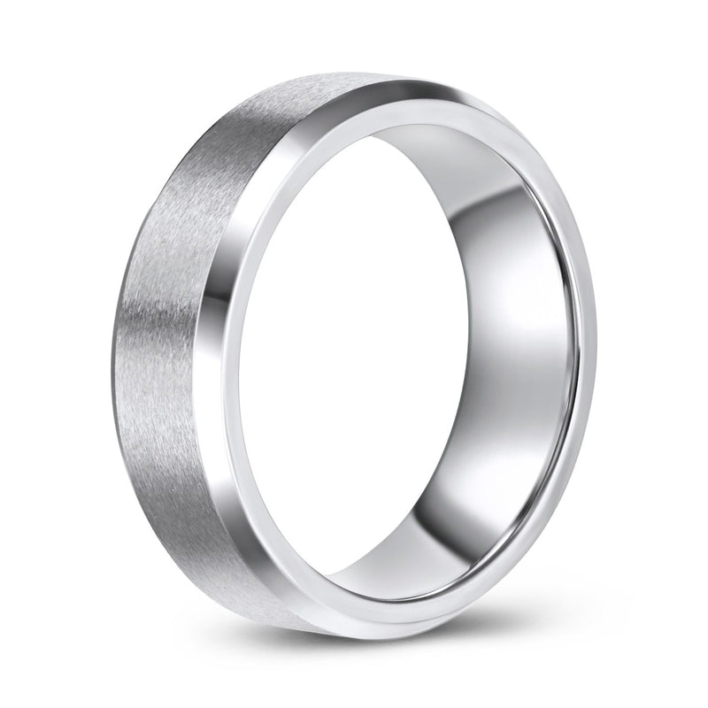 Brush Finish Cobalt Ring (7mm)