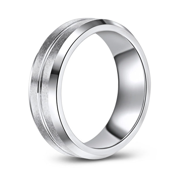 Cobalt Band with Tapered Edges and Concave Centre (7mm)