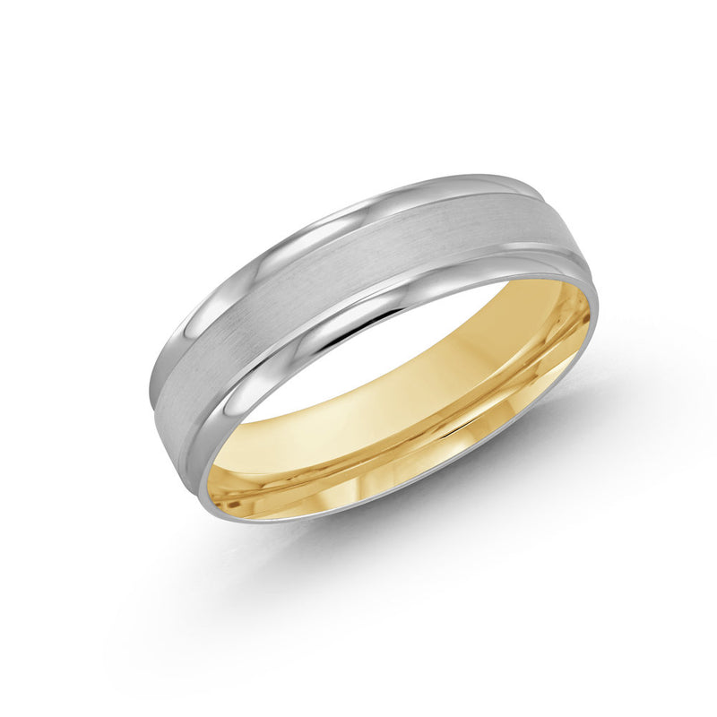 Thick Frame Tapered Edge Gold Ring