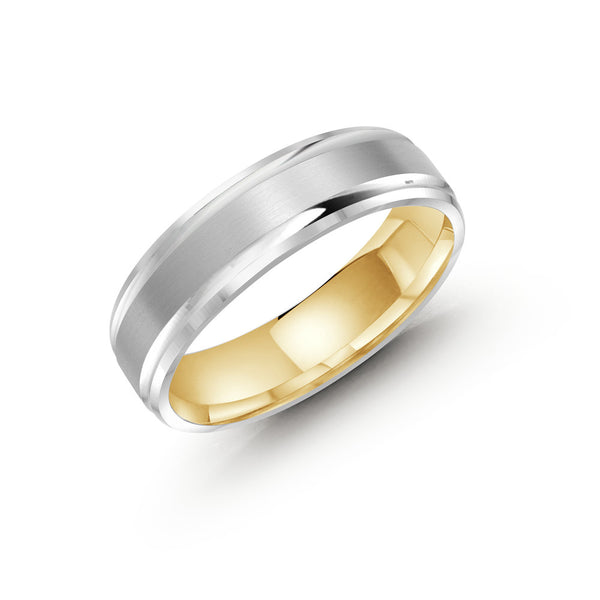 Slim Brushed Finish Paved Edging Gold Ring
