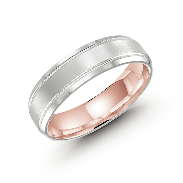 Slim Brushed Finish Double Paved Edging Gold Ring