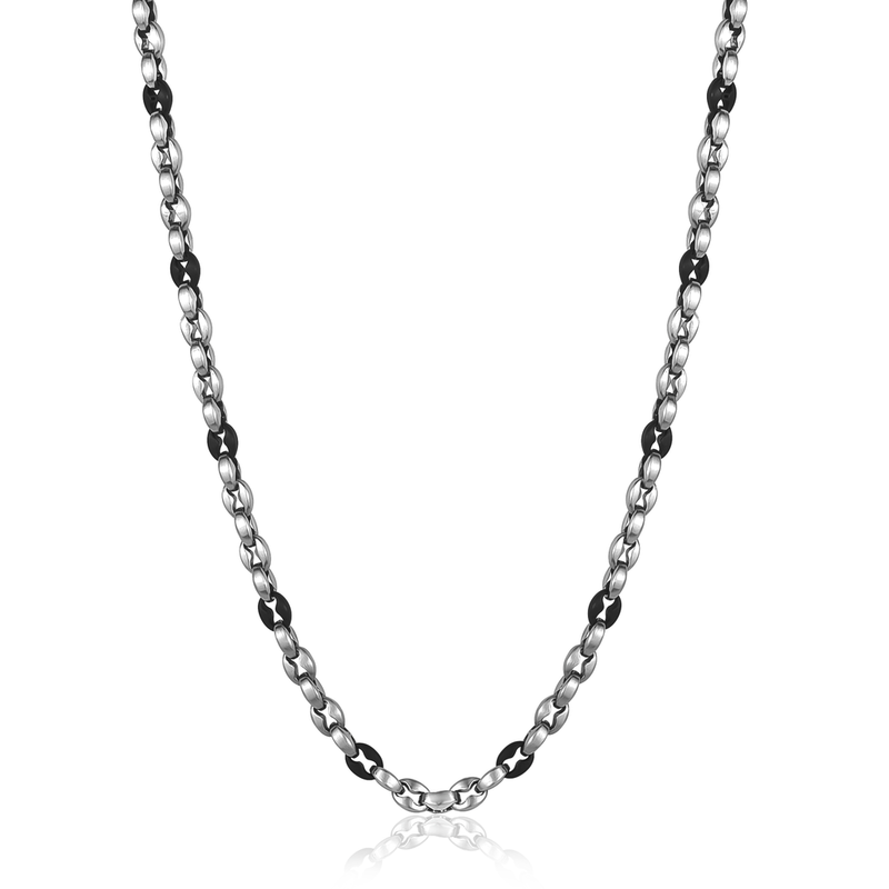 Patterned Oval Link Necklace