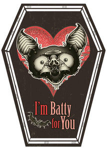 Batty For You Coffin Card