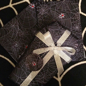 Black Spider Web Gift Wrap