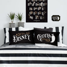Load image into Gallery viewer, Pair of Disney Goth Cushions