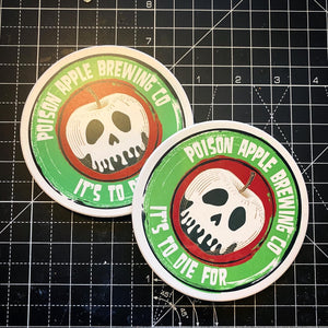 Set of 2 Poison Apple Brewing Co Coasters