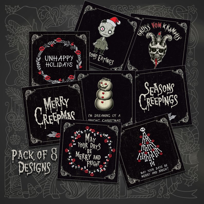 Set of 8 Creepmas Cards