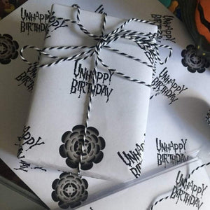Unhappy Birthday Gift Wrap