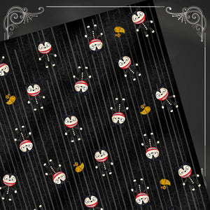Vampire Teddy and Ducky Gift Wrap