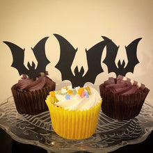 Load image into Gallery viewer, Bats and Grave Stone Mini Topper Set