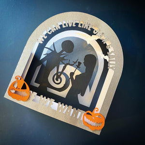 3D We Can Live Like Jack and Sally Card