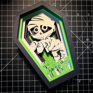 3D I'm All Wrapped Up In You -  Coffin Card