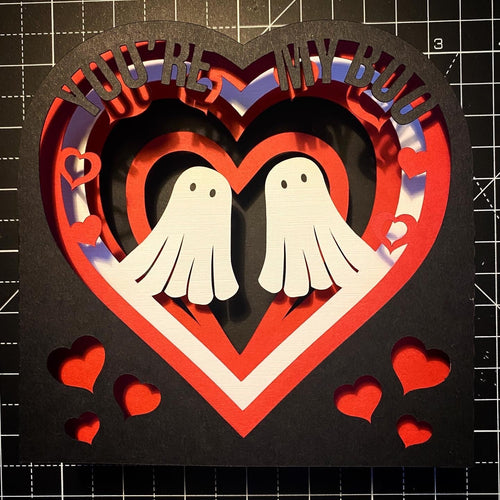 3D You're my boo - Ghosts Card