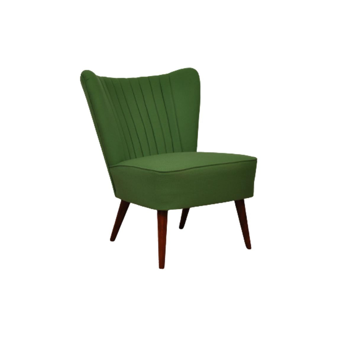 1950s cocktail chair in citrus green