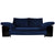 Eileen Gray Lota Sofa / Daybed in Midnight Blue Velvet and Black Lacquer, designed in 1924
