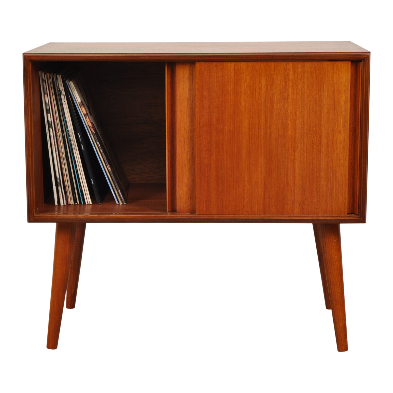 G-Plan 1960s Form Five Cabinet on tapered legs, perfect for Vinyl